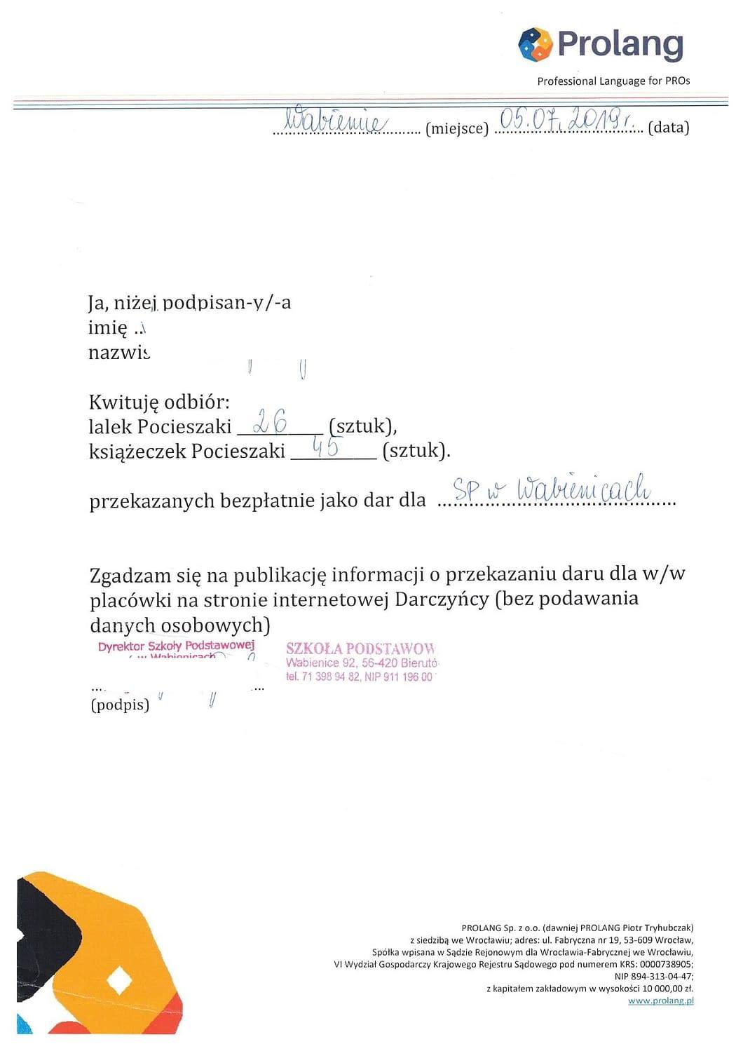 podziękowanie kursy językowe dla firm
