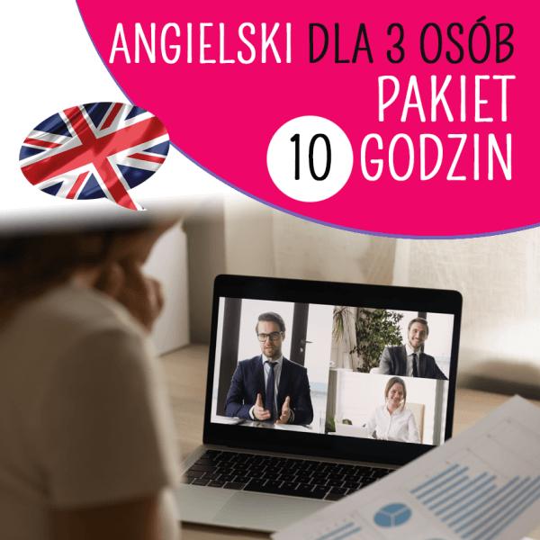 Angielski online dla 3 osób
